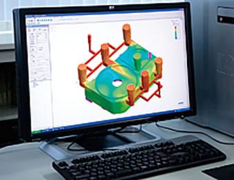 湯流れ解析・凝固解析による鋳造シミュレーション