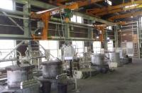 アルミ合金溶解炉と介在物除去